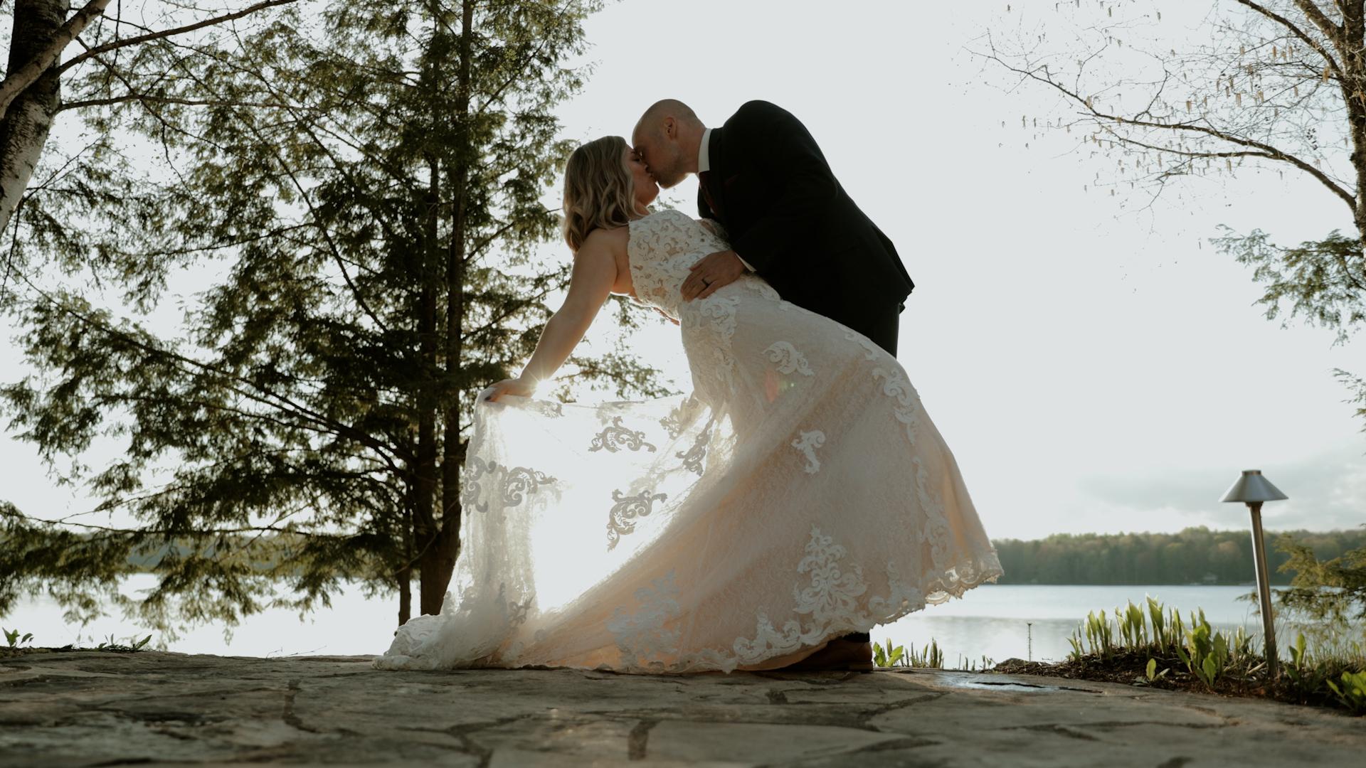 Intimate Airbnb Wisconsin wedding