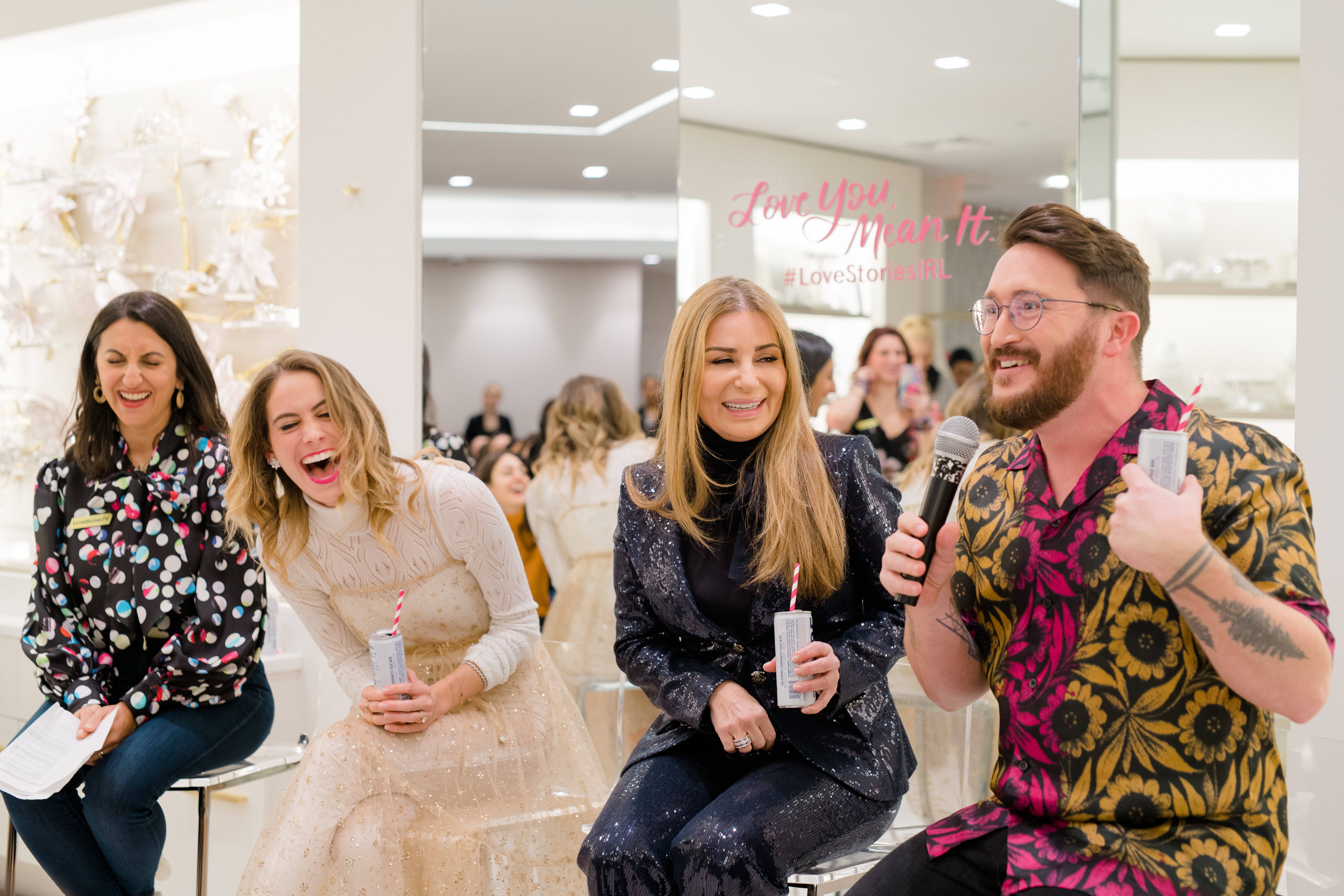 Panel at wedding event by Love Stories TV with Lucy Fink Morris, Pnina Tornai and Jove Meyer
